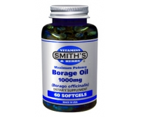 Borage Oil 1000mg pour une belle peau x60 - SMITH'S