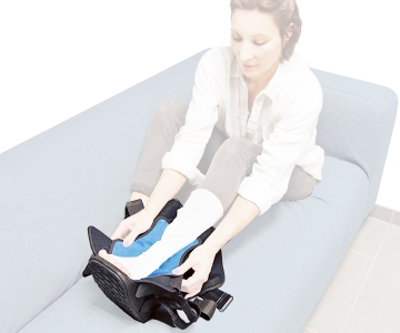 Botte Immobilisation avec Pack Froid Maxtrax Air Ice Haute - DJO-DONJOY
