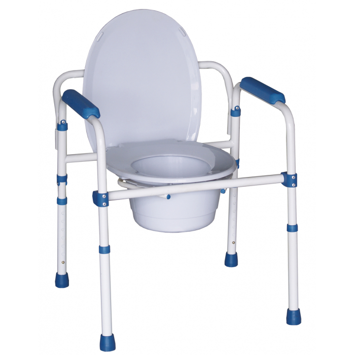 Chaise wc blue steel 3 en 1 hedergen chaises toilettes for Chaise 4 en 1