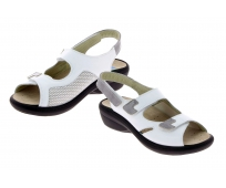 Chaussures CHUT Femme Damia Blanc Semelle absorbante - PODOWELL