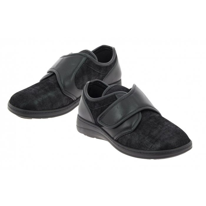 Chaussures médicales Homme CHUT Pied Large Pavel Noir , PODOWELL