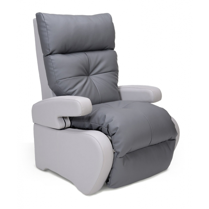 fauteuil de repos manuel inclinable no stress gris. Black Bedroom Furniture Sets. Home Design Ideas