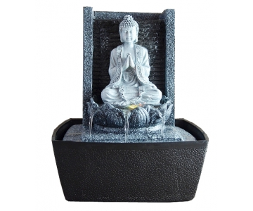 fontaine d 39 int rieur mur bouddha pri re zen arome. Black Bedroom Furniture Sets. Home Design Ideas