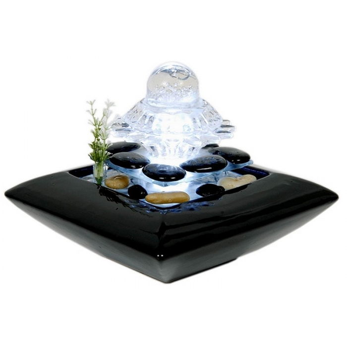 fontaine d 39 int rieur avec clairage led nuage zen arome. Black Bedroom Furniture Sets. Home Design Ideas