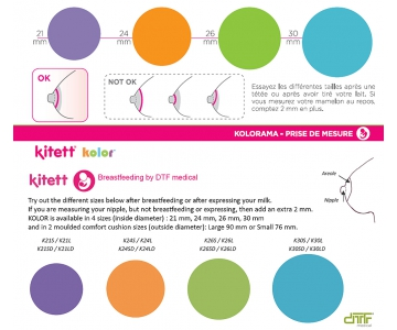 Kit expression Simple KOLOR 24mm - Tire-lait Kitett automatiques et Fisio - DTF KITETT