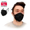 Masque de protection alternatif Adulte réutilisable tissu noir barrière propagation virus x5 - SC ICON
