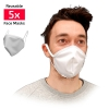 Masque facial alternatif Adulte réutilisable en tissu blanc barrière contre propagation virus x5 - SC ICON