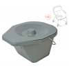 Seau complet pour Chaise WC Omega - INVACARE
